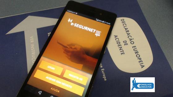 e-SEGURNET: Declaração amigável no telemóvel