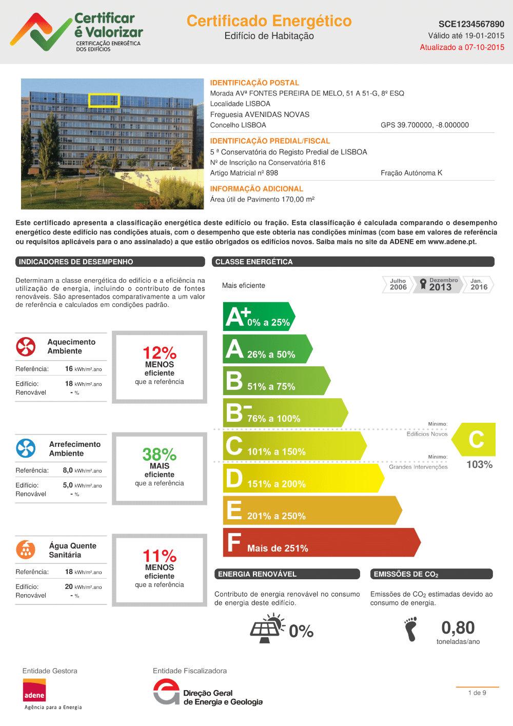 Certificado Energético - ADENE