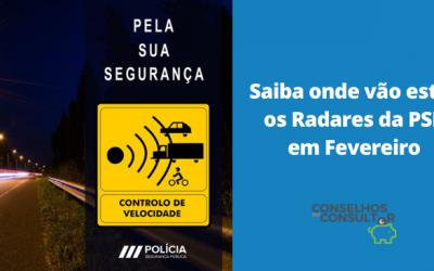 Saiba onde vão estar os Radares da PSP em Fevereiro