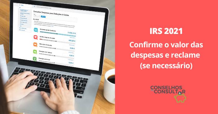 Despesas IRS 2021