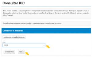 Consultar IUC Finanças
