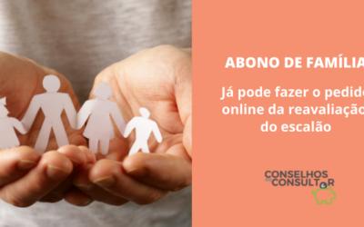 Abono de Família – Pedido online de reavaliação do escalão