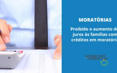 Proibido o aumento de juros às famílias com créditos em moratória