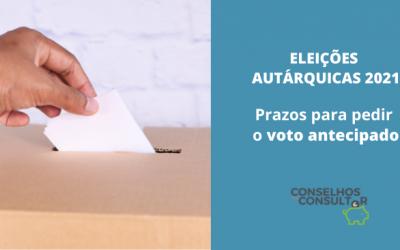 Eleições Autárquicas 2021: prazos para pedir o voto antecipado